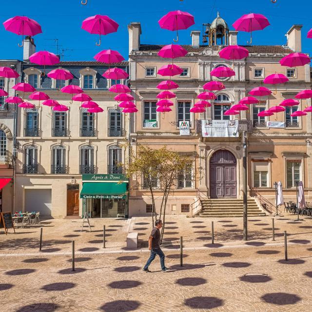 Centre-ville Mont de Marsan - octobre rose