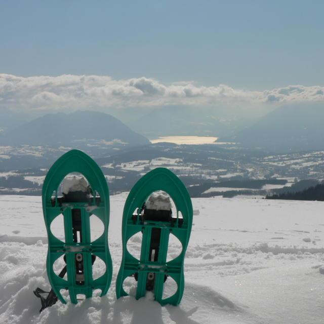 Schneeschuhwandern im Salève