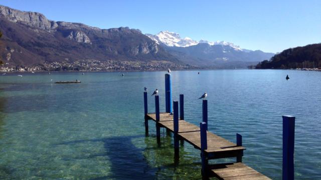 Am Ufer des Lac d'Annecy