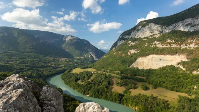 Montagne de Vuache, die Rhone-Schlucht