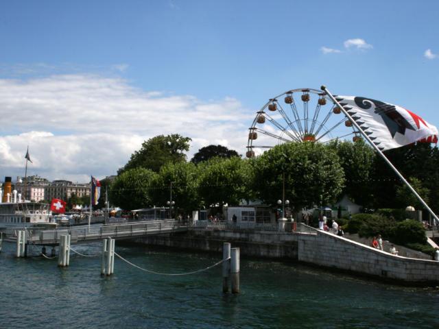 Die Quais von Genf, Englischer Garten