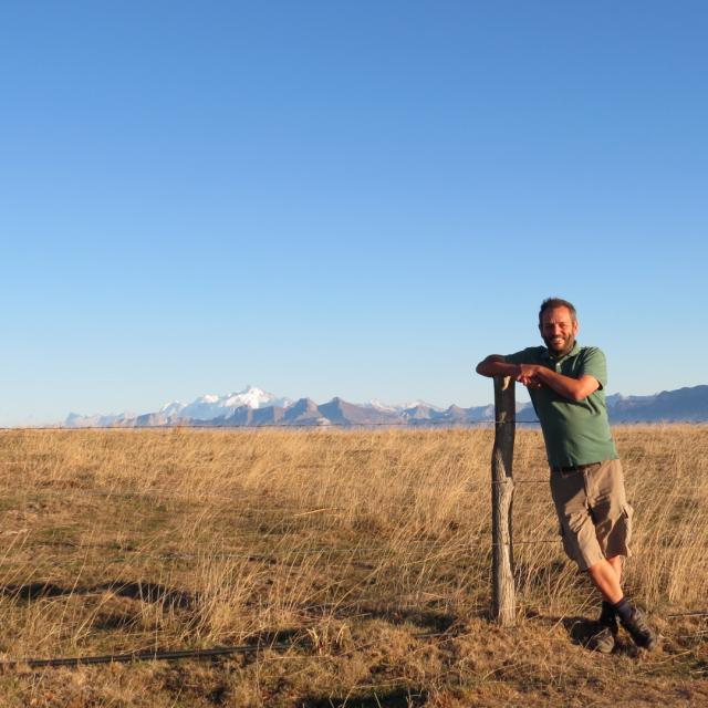 Dominique Ernst, Alpage Des Crêts Au Salève, Automne 2018. Ambiance De Pampa Argentine Sur Fond De Mont Blanc