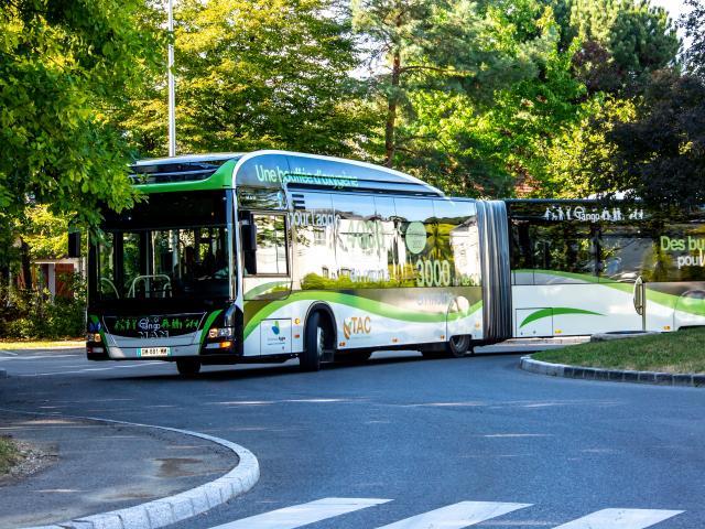 Transport en bus dans les Monts de Genève