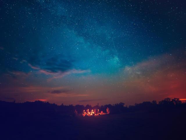 Aperitif unter dem Sternenhimmel
