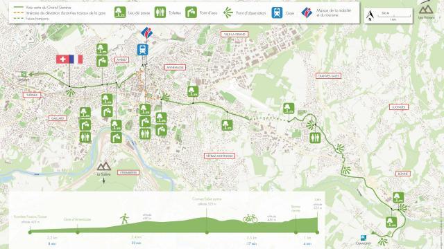 Itinéraire de la voie verte du Grand Genève