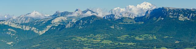 Vue sur les Alpes, route des Crêtes du Salève