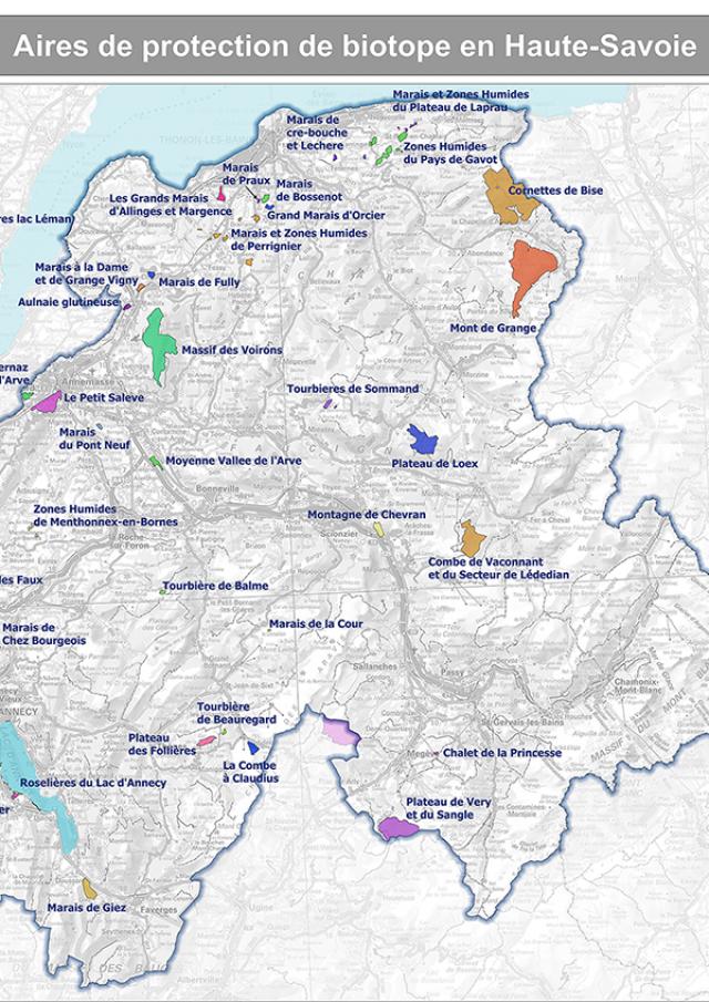 Aires de protection de biotopes en Haute-Savoie