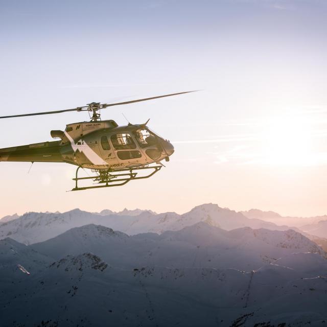 Mont blanc hélicoptère