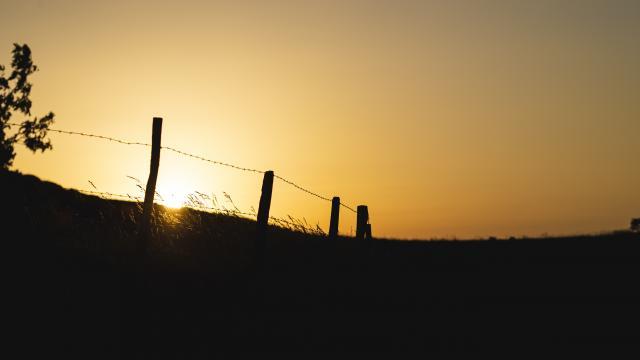 Coucher de soleil au Salève
