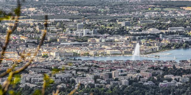 La vue sur Genève depuis le Salève