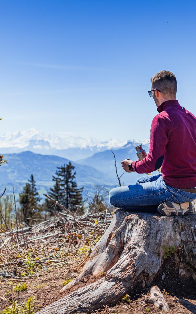 La vue sur les Alpes depuis les Voirons