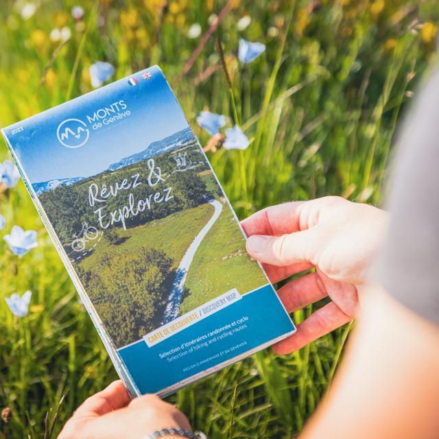 Carte touristique Monts de Genève