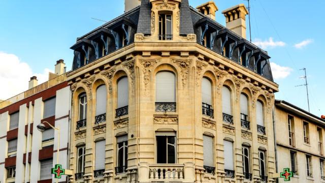Art Nouveau Pharmacie Rue Jeanne D'arc Façade 1249