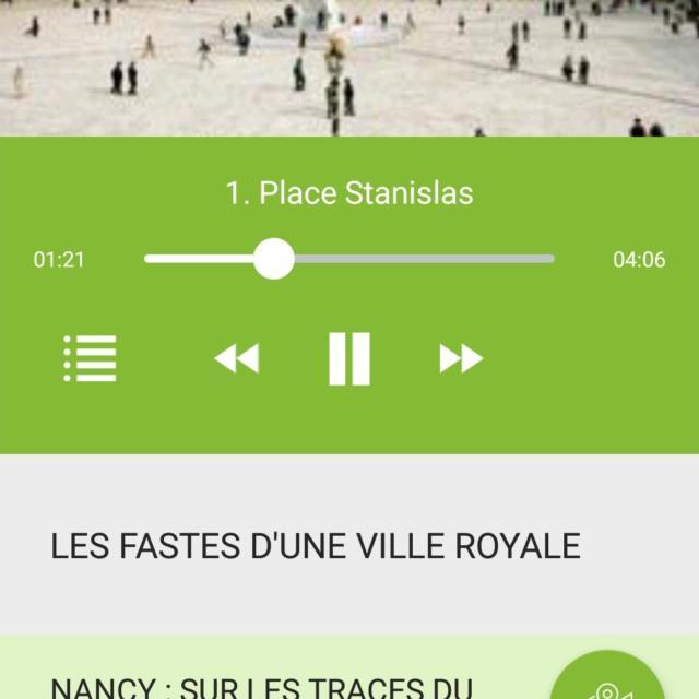 Screenshot parcours Zevisit Nancy