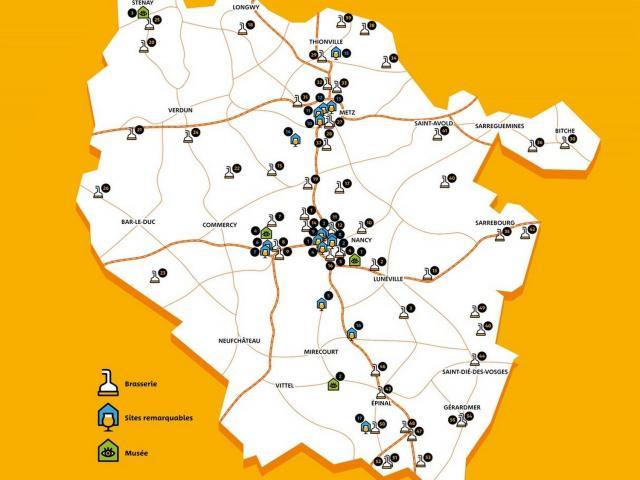 Carte Route Lorraine De La Bière