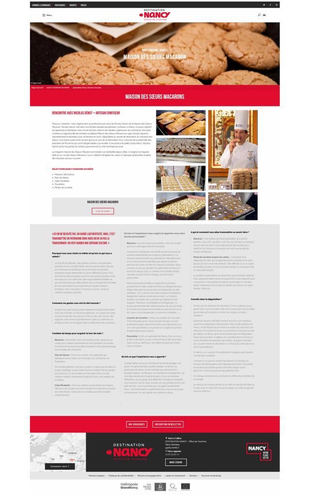 Page Web Artisan Consifeur