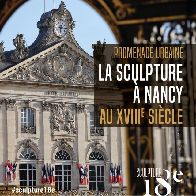 Couverture dépliant La sculpture à Nancy au 18e siècle