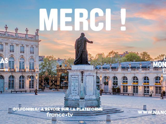Remerciements place Stanislas Monument préféré des français