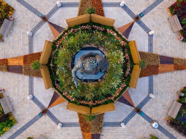 Jardin Ephémère vu du ciel Visitnancy360