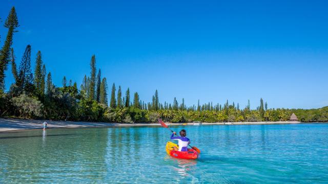 Session Kayak dans la baie de Kanuméra