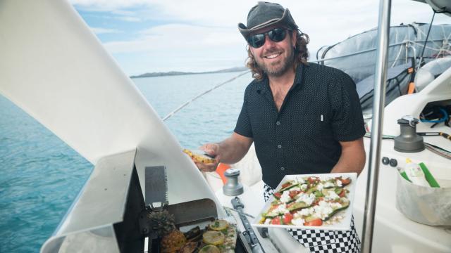 Barbecue sur catamaran - Nouvelle-Calédonie