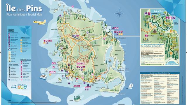 Carte de l'Île des Pins