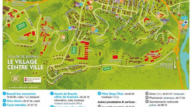 Carte centre ville Bourail