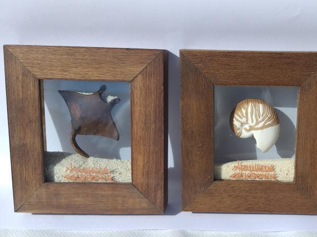 Tableau Miniature Sable Mobile Avec Sujet Céramiques Format 9x10 cm