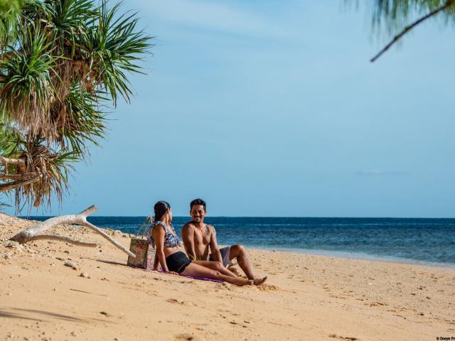 Pique-nique sur la plage - Saint Valentin