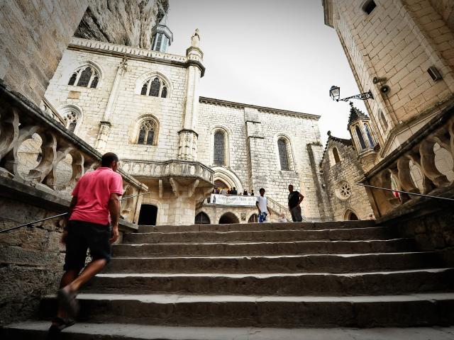 Escalier vers le sanctuaire de Rocamadour