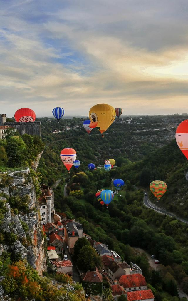 Les montgolfières à Rocamadour