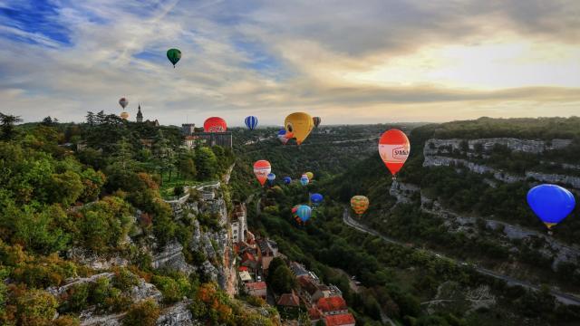 Les montgolfières à Rocamadour