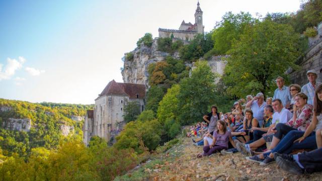 Au départ des Montgolfiades à Rocamadour
