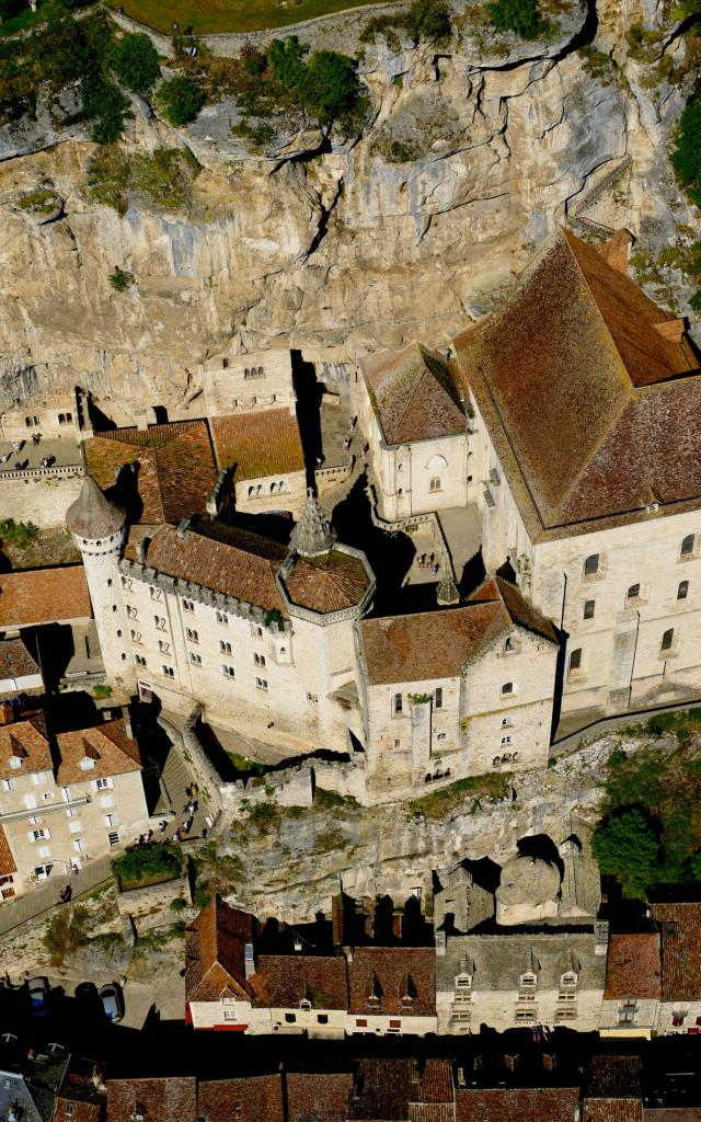 Le Sanctuaire De Rocamadour Vue D Avion.jpg