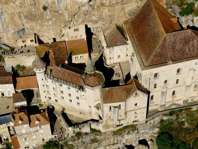Le Sanctuaire De Rocamadour Vue D Avion.jpg