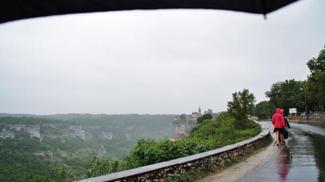 Rocamadour un jour de pluie