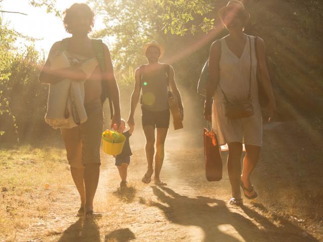 En route pour la plage