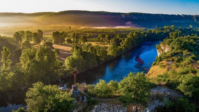 La Dordogne depuis le belvédère de Copeyre