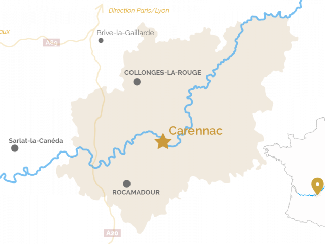 Carte Carennac