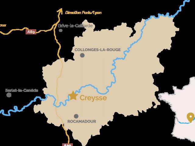 Carte Creysse