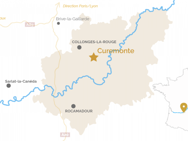 Carte Curemonte