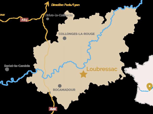 Carte Loubressac