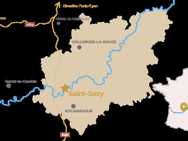Carte Saint Sozy