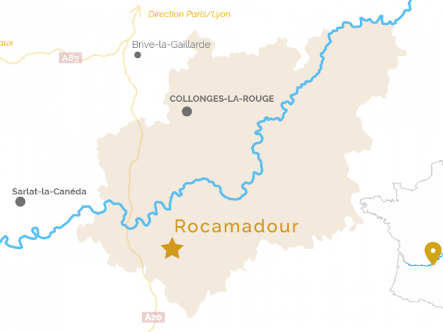 Carte de situation - Rocamadour