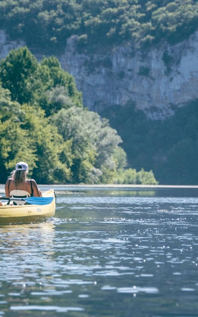 Canoës sur la Dordogne