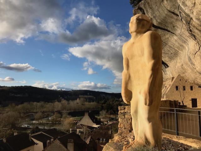 Les Eyzies Statue Homme Primitif Cro Magnon