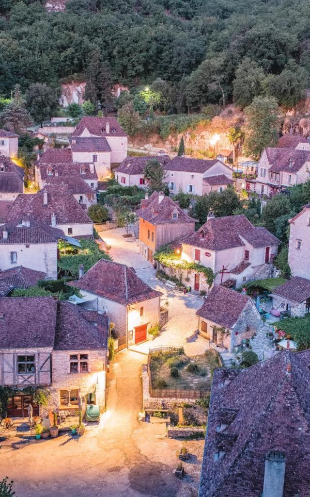 Tombée De La Nuit Sur Saint-Cirq-Lapopie - Lot Tourisme, Teddy Verneuil