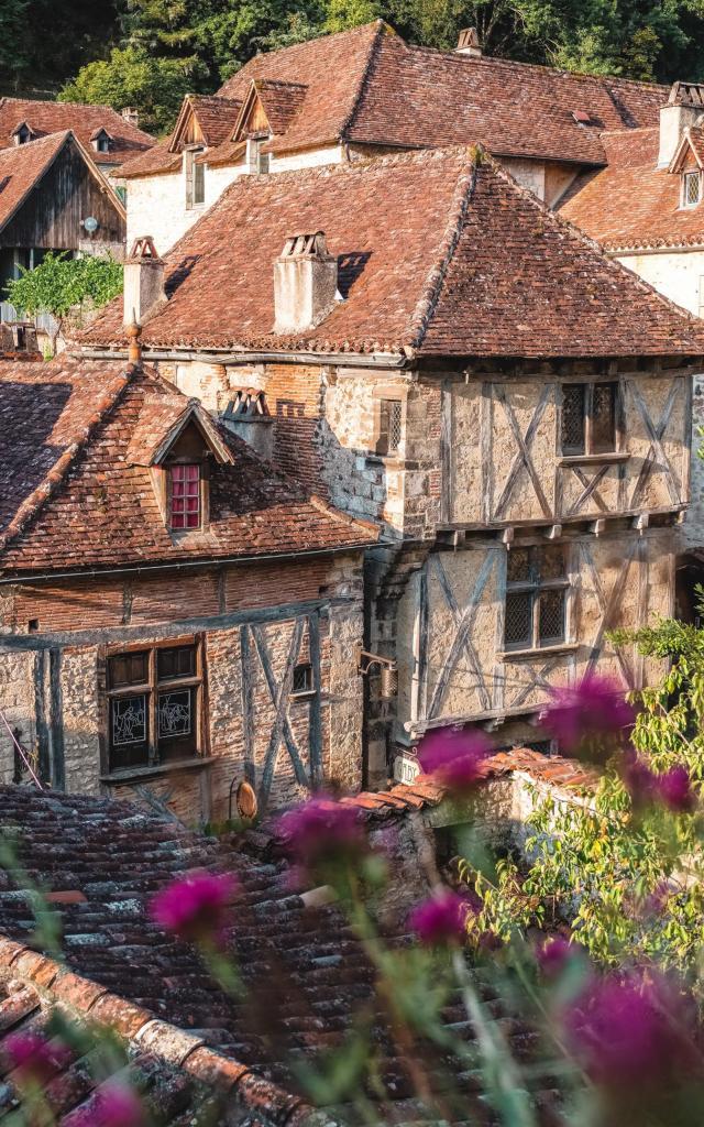 Maisons A Pan De Bois De Saint-Cirq-Lapopie - Lot Tourisme, Teddy Verneuil