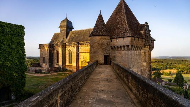 France, Dordogne (24), Périgord Pourpre, Biron, château de Biron//France, Dordogne, Purple Perigord, Biron, Castle of Biron