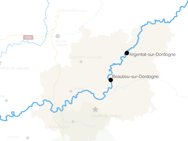 Gabares Vallée de la Dordogne